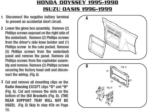 1996 honda odysseyinstallation instructions. Black Bedroom Furniture Sets. Home Design Ideas