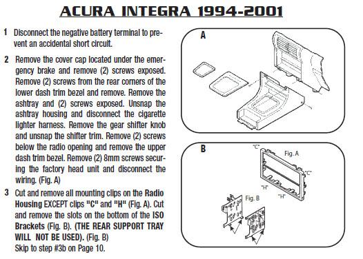 1997 acura integrainstallation instructions. Black Bedroom Furniture Sets. Home Design Ideas