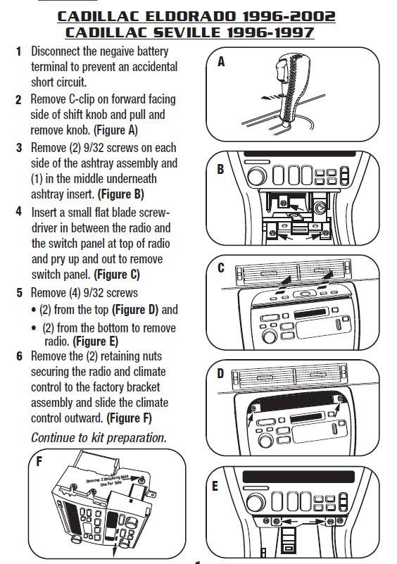 1998 cadillac eldoradoinstallation instructions. Black Bedroom Furniture Sets. Home Design Ideas