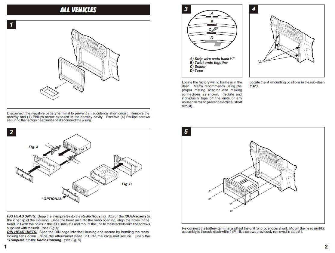1998   HONDA   PASSPORTinstallation instructions