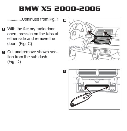 2000 bmw x5installation instructions. Black Bedroom Furniture Sets. Home Design Ideas