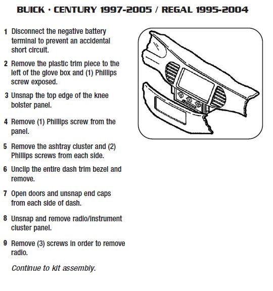 2001 Buick Lesabre Battery: .2000-BUICK-REGALinstallation Instructions