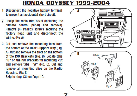 2000 honda odysseyinstallation instructions. Black Bedroom Furniture Sets. Home Design Ideas