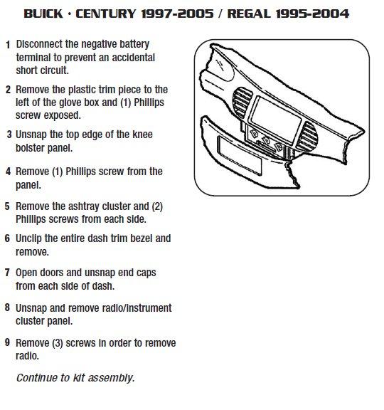 2001 Buick Regalinstallation Instructions