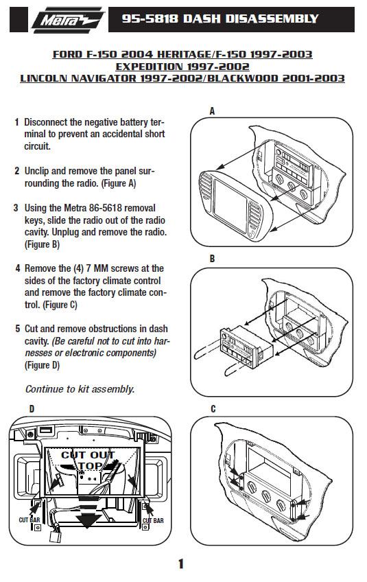 2001 lincoln navigatorinstallation instructions. Black Bedroom Furniture Sets. Home Design Ideas