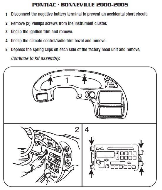 2001 pontiac bonnevilleinstallation instructions. Black Bedroom Furniture Sets. Home Design Ideas