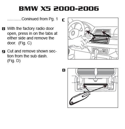 2002 bmw x5installation