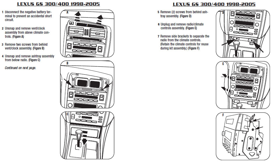 2002 Lexus Gs300installation Instructions