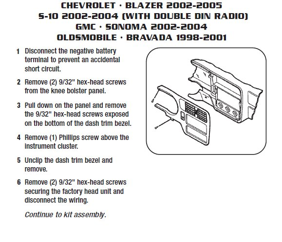 .2003-CHEVROLET-BLAZERinstallation instructions.