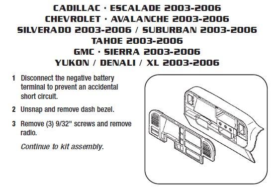 2003 chevrolet silveradoinstallation instructions. Black Bedroom Furniture Sets. Home Design Ideas