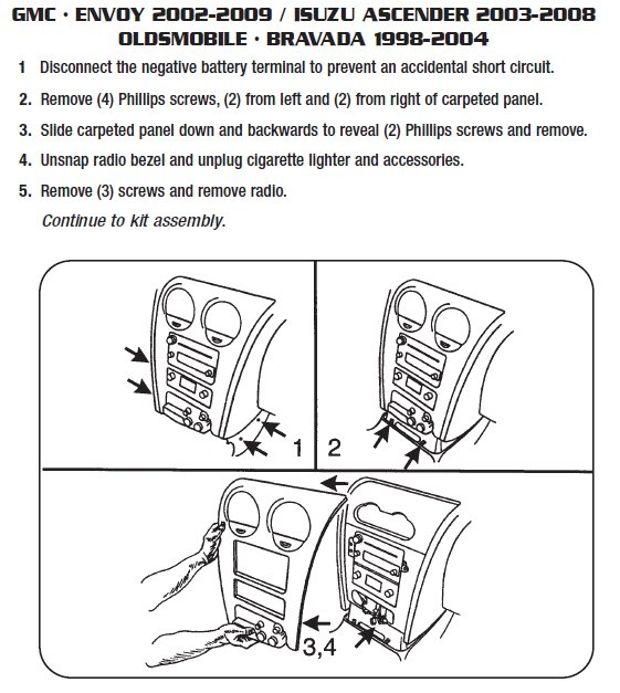 2003 gmc envoyinstallation instructions