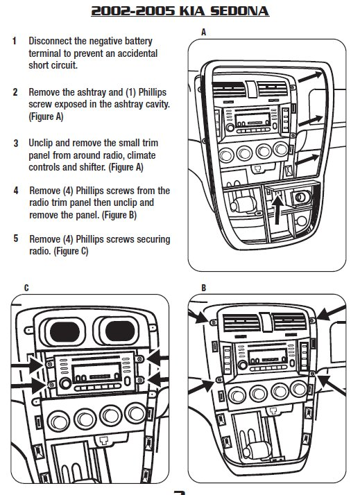 2003 kia sedonainstallation instructions
