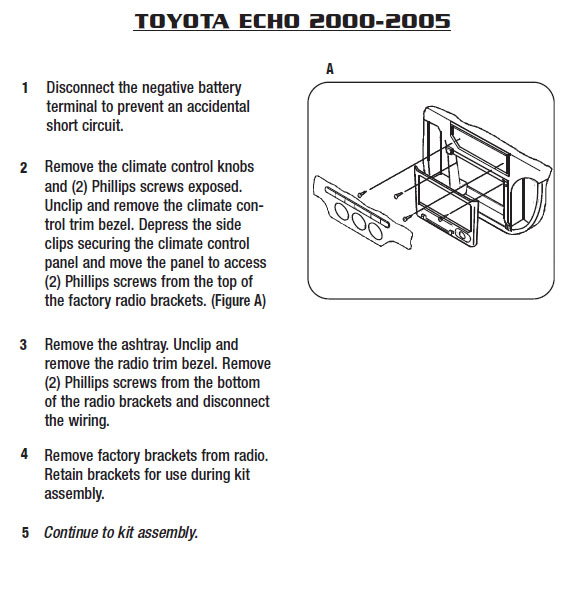 2003 toyota echoinstallation instructions. Black Bedroom Furniture Sets. Home Design Ideas