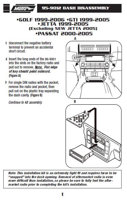 2003 volkswagen passatinstallation instructions. Black Bedroom Furniture Sets. Home Design Ideas