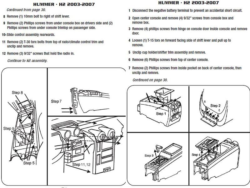2004 hummer h2installation instructions 2004 hummer h2 parts