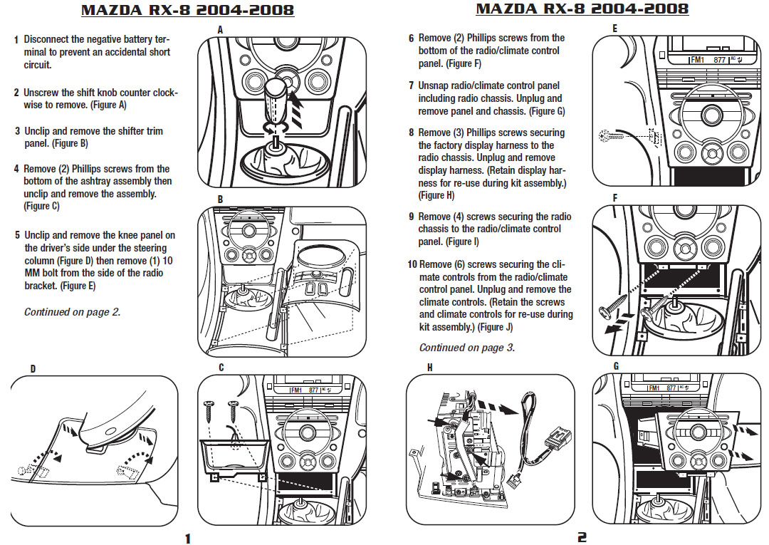 2004 mazda rx 8installation instructions. Black Bedroom Furniture Sets. Home Design Ideas