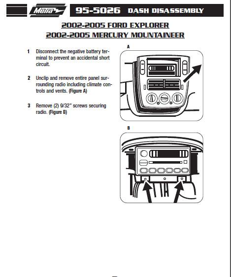 2004 mercury mountaineerinstallation instructions. Black Bedroom Furniture Sets. Home Design Ideas