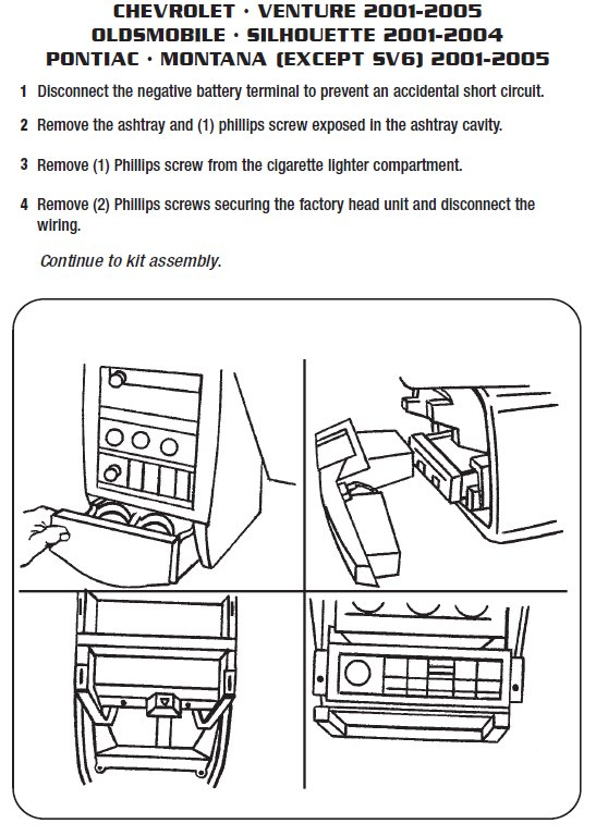 2004 oldsmobile silhouetteinstallation instructions