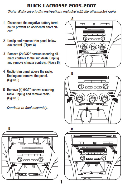 buick lacrosseinstallation instructions
