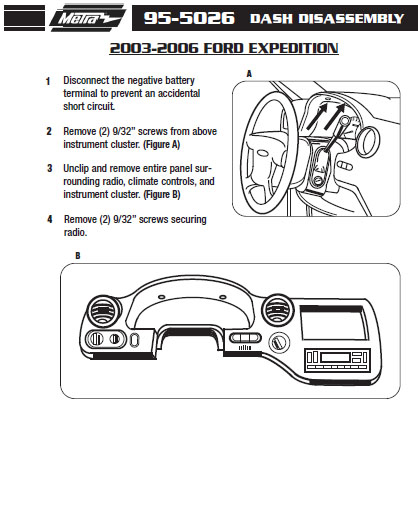2005 FORD EXPEDITIONinstallation instructions