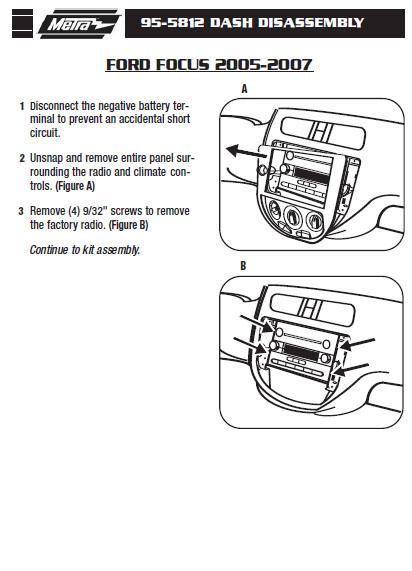 2005 ford focusinstallation instructions. Black Bedroom Furniture Sets. Home Design Ideas