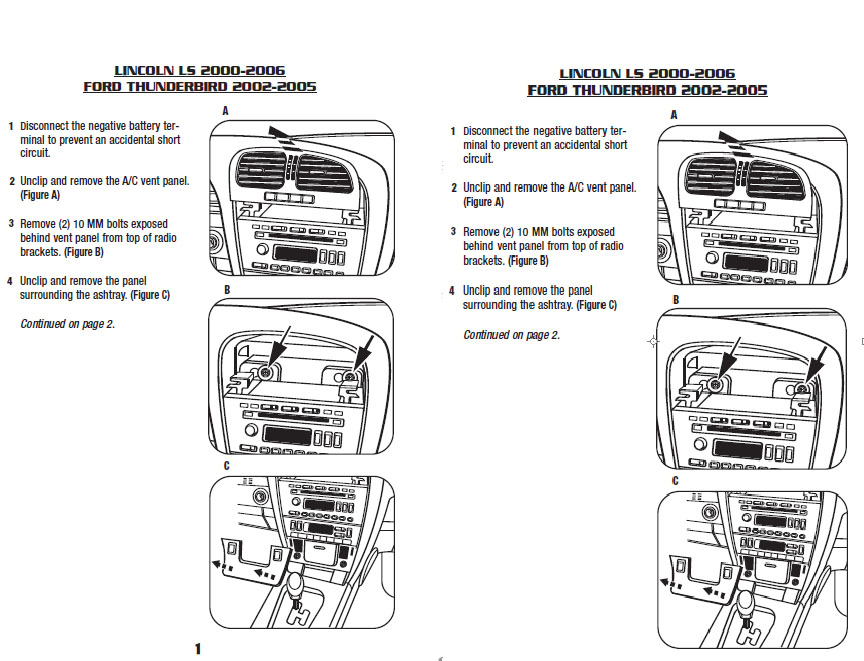 2005 ford thunderbirdinstallation instructions. Black Bedroom Furniture Sets. Home Design Ideas