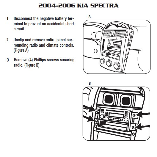 2005 kia spectrainstallation instructions. Black Bedroom Furniture Sets. Home Design Ideas