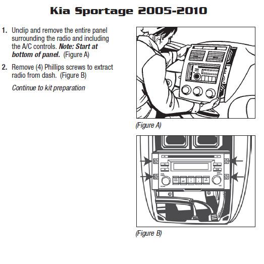 2005 KIA SPORTAGEinstallation instructions