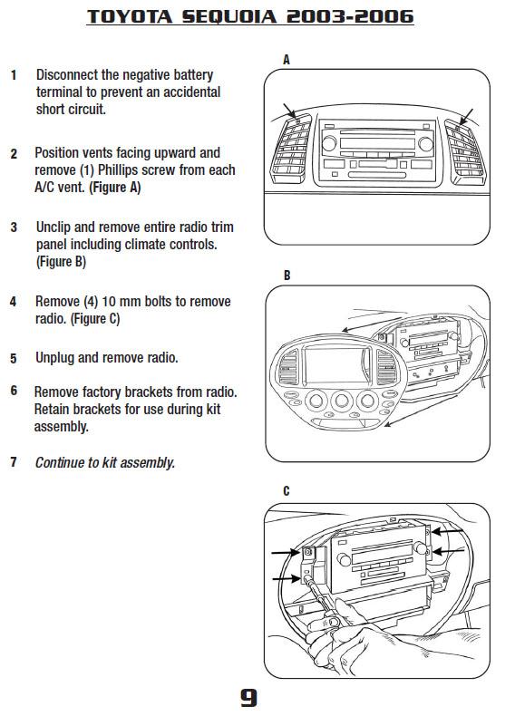 2005 toyota sequoiainstallation instructions. Black Bedroom Furniture Sets. Home Design Ideas
