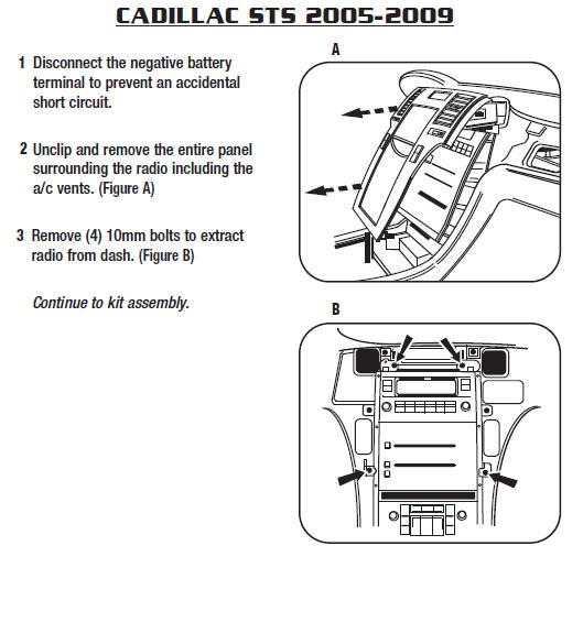 cadillac sts radio wiring diagram 2006    cadillac    stsinstallation instructions  2006    cadillac    stsinstallation instructions