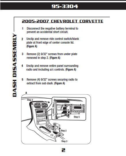 2006 Chevrolet Corvetteinstallation Instructions