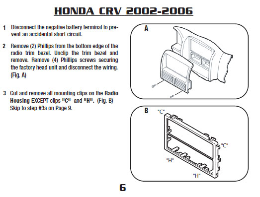 2006 honda crvinstallation instructions. Black Bedroom Furniture Sets. Home Design Ideas