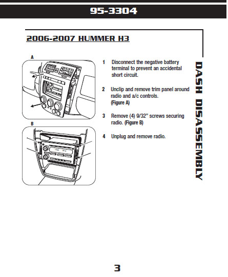 2006 HUMMER H3installation instructions