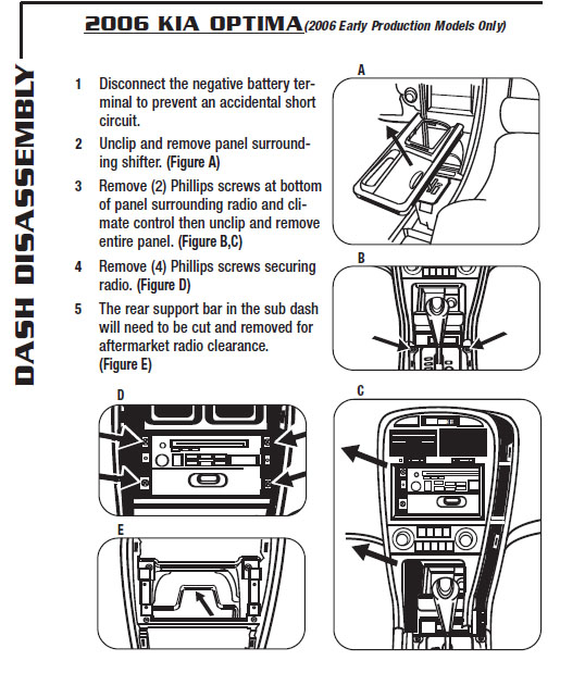 2006 optima stereo wiring diagram 2006 mustang stereo wiring diagram .2006-kia-optimainstallation instructions.