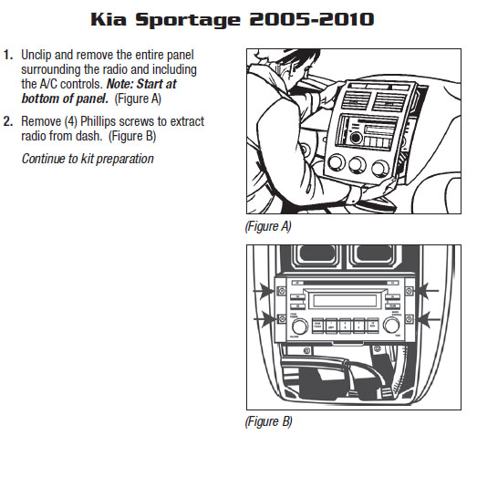 2006 KIA SPORTAGEinstallation instructions