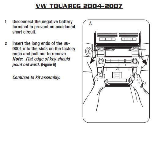 2006 volkswagen touareginstallation instructions. Black Bedroom Furniture Sets. Home Design Ideas