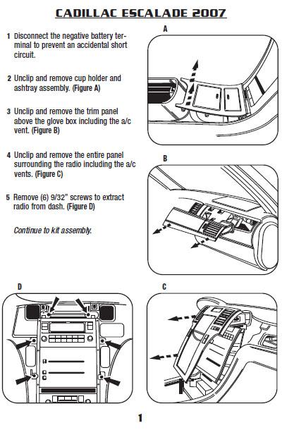 2007 cadillac escaladeinstallation instructions. Black Bedroom Furniture Sets. Home Design Ideas