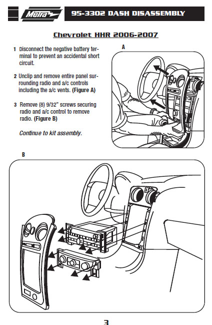 2007 Chevrolet Hhrinstallation Instructions