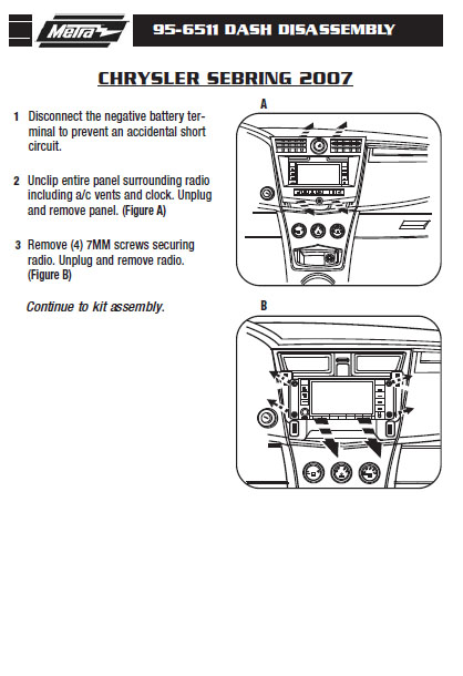 .2007-CHRYSLER-SEBRINGinstallation instructions.