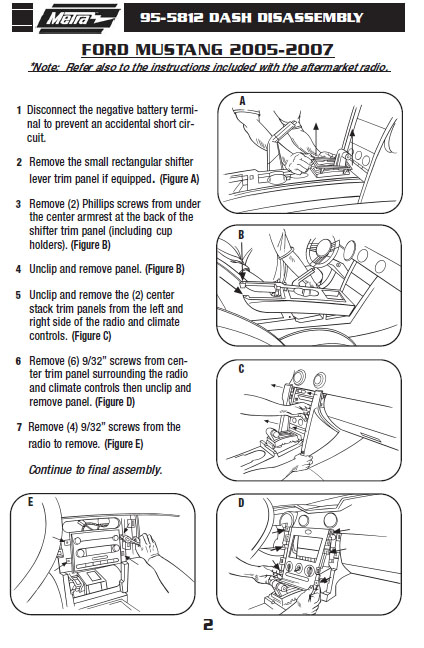 2007 ford mustanginstallation instructions. Black Bedroom Furniture Sets. Home Design Ideas