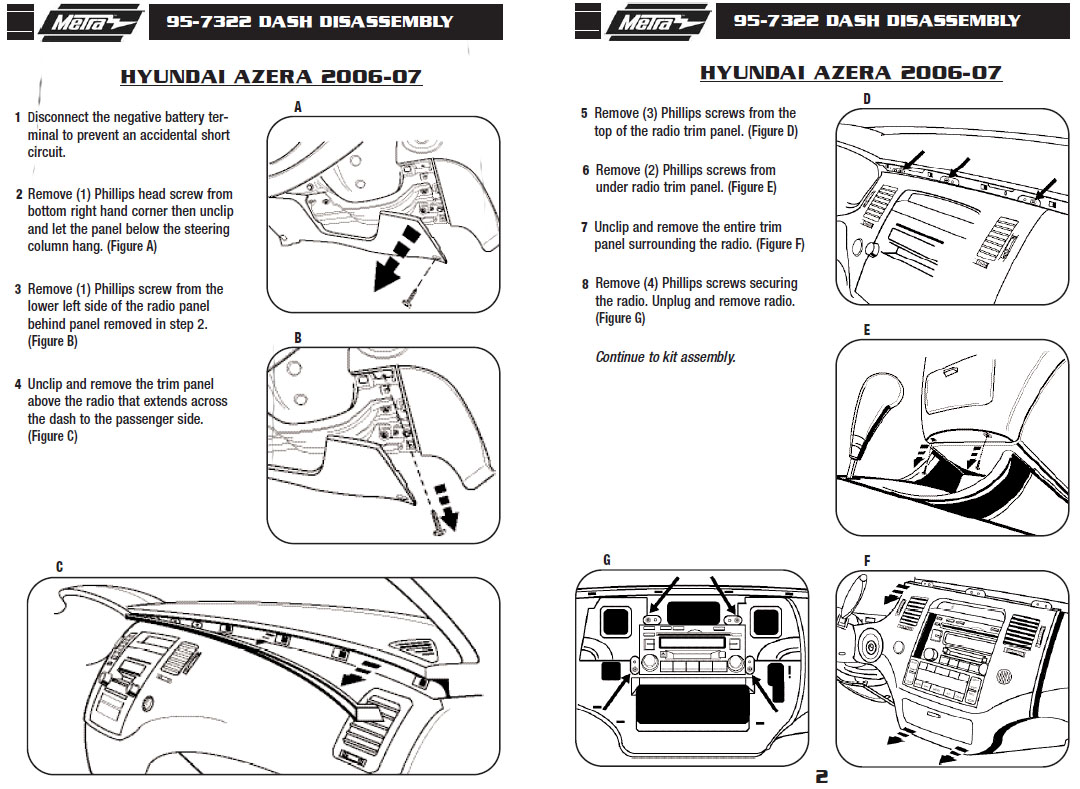2007 Hyundai Azerainstallation Instructions