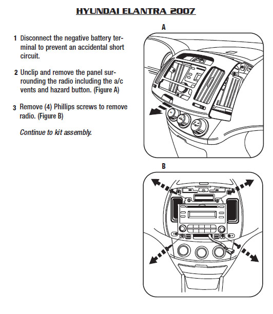 2007   HYUNDAI   ELANTRAinstallation instructions