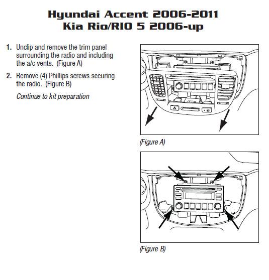 2007 kia rioinstallation instructions. Black Bedroom Furniture Sets. Home Design Ideas