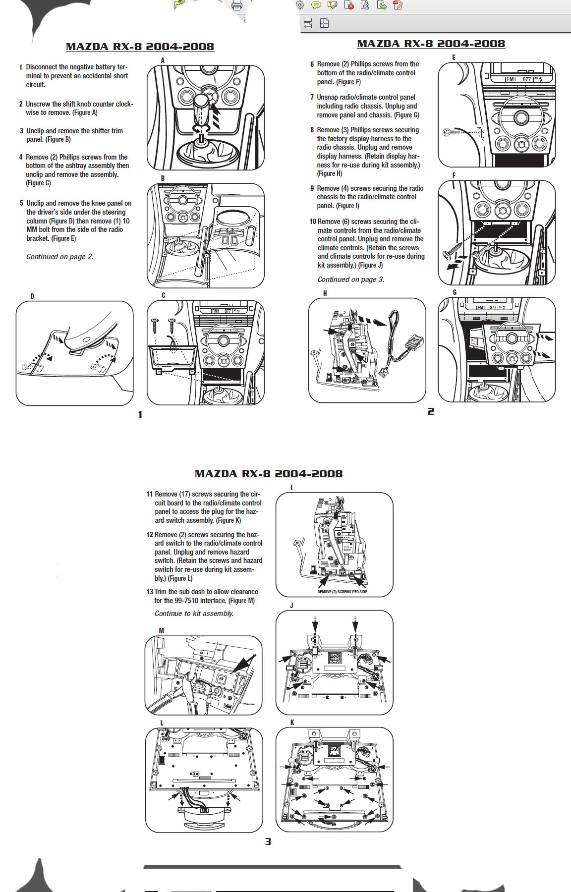 2007 mazda 3installation instructions. Black Bedroom Furniture Sets. Home Design Ideas