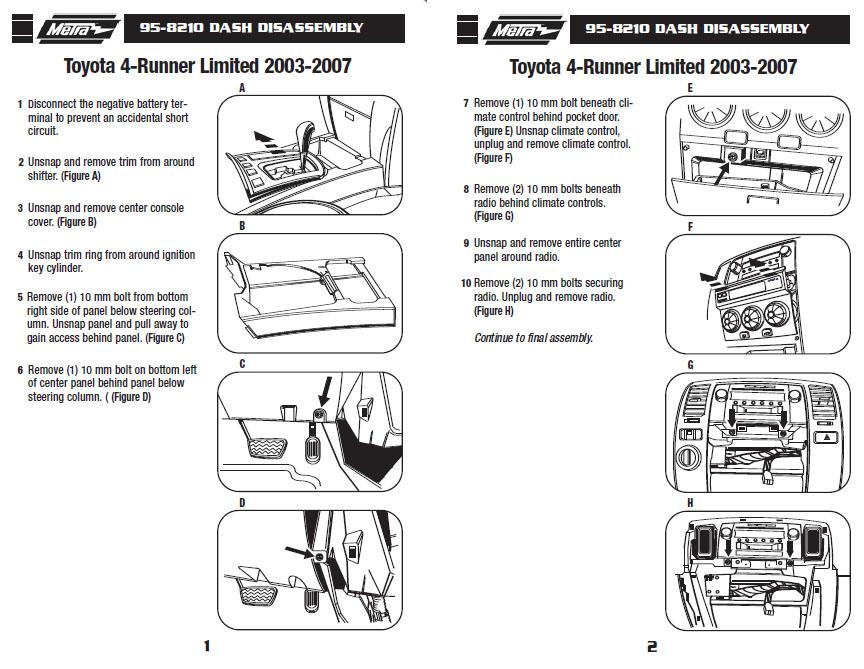 2007 Toyota 4 Runner W Jblinstallation Instructions