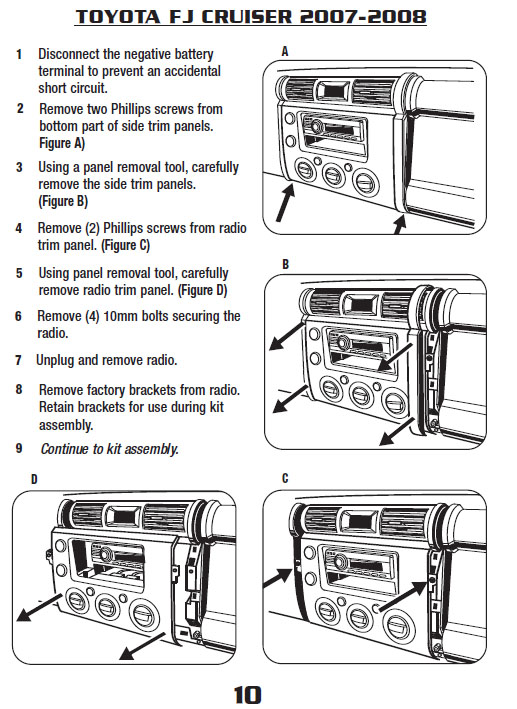 2007 toyota fj cruiserinstallation instructions. Black Bedroom Furniture Sets. Home Design Ideas