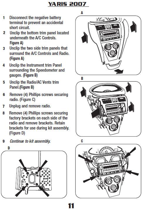 2007 Toyota Yaris Stereo Wiring Diagram