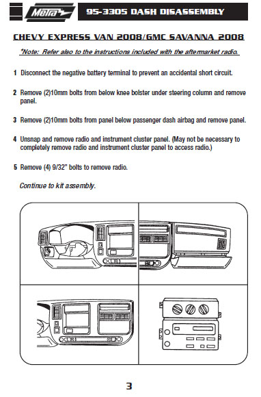 2008 chevrolet express vaninstallation instructions. Black Bedroom Furniture Sets. Home Design Ideas