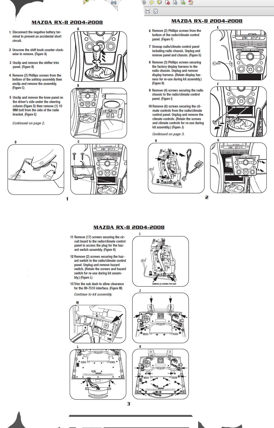 2008 mazda 3installation instructions. Black Bedroom Furniture Sets. Home Design Ideas