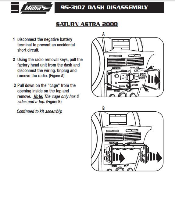 2008 saturn astrainstallation instructions. Black Bedroom Furniture Sets. Home Design Ideas